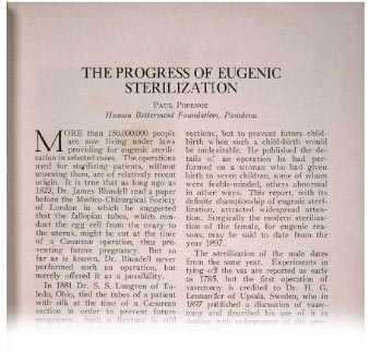 The Progress of Eugenical Sterilization
